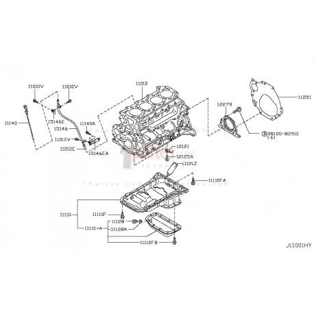 Estopera del cigüeñal trasera|Nissan|Frontier|Terrano|D22