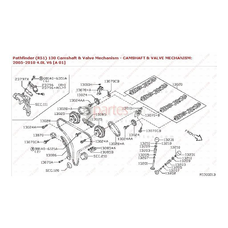 Tensor de cadena de tiempos|Nissan|Pathfinder|Frontier