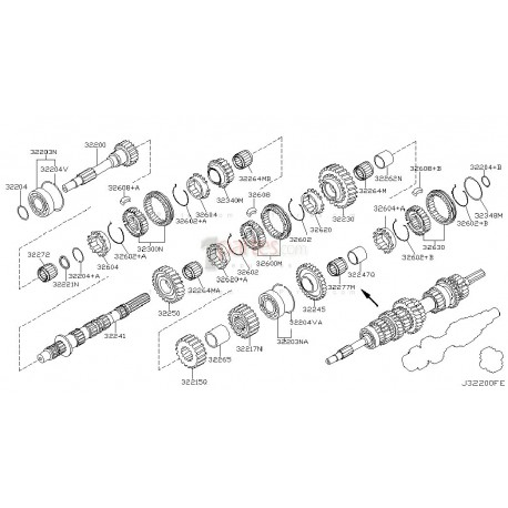 Aro sincronizador de 4ta|Nissan|Pathfinder|Frontier|Xterra