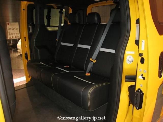 日産 NV200 ニューヨーク市タクシー リアシート