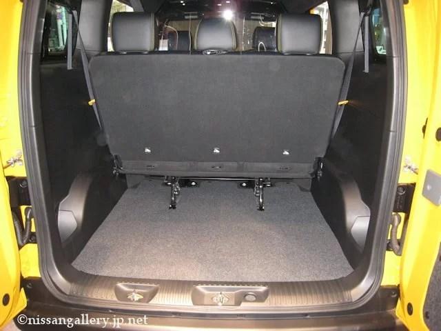 日産 NV200 ニューヨーク市タクシー ラゲッジスペース