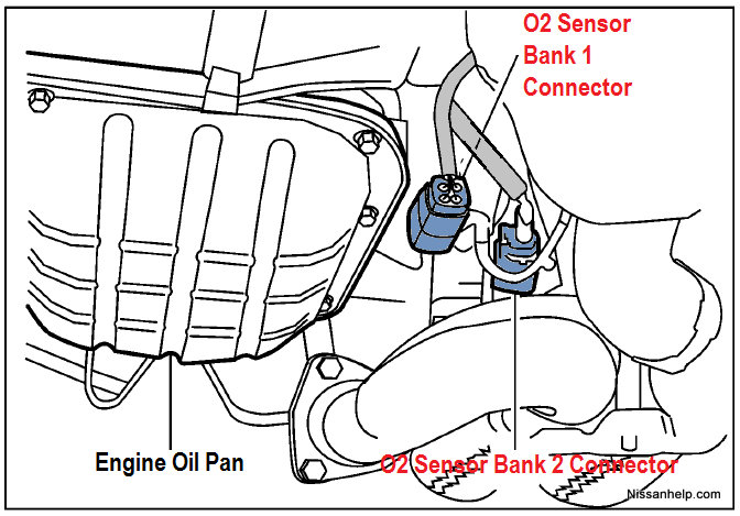2004-2009 Nissan Quest Air/Fuel Ratio and O2 Sensor