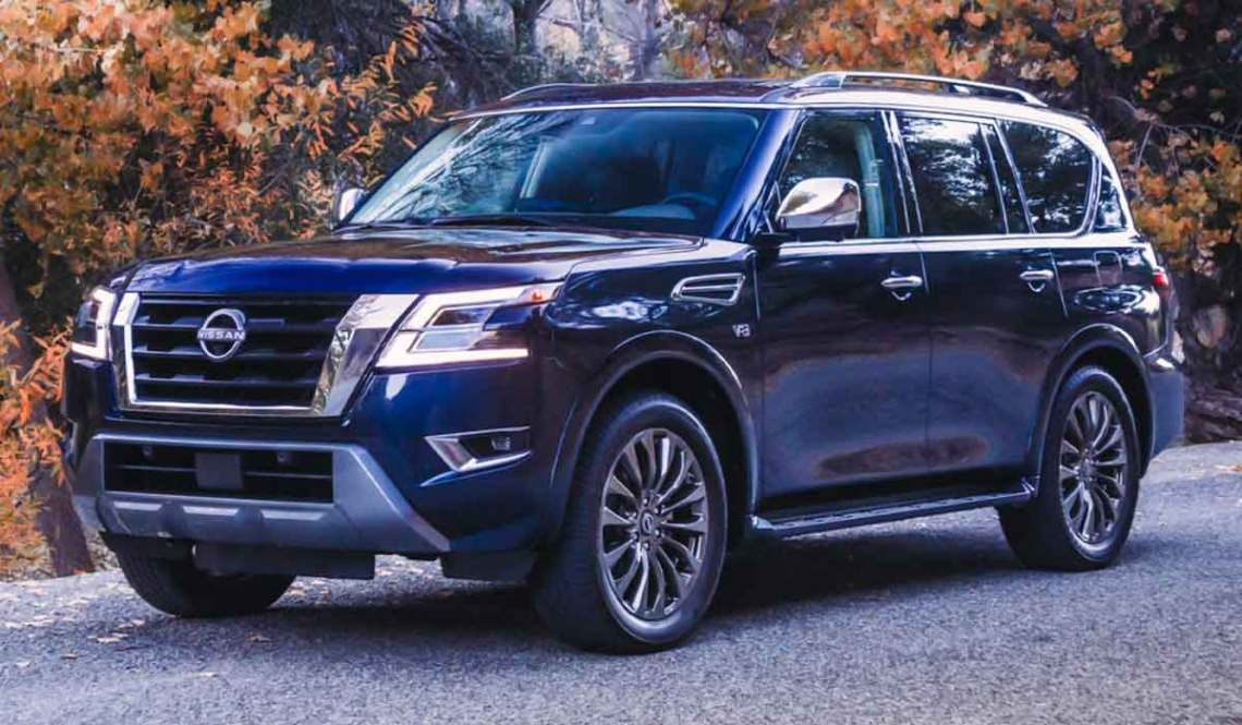 The Armada is powered by a 5.6-liter V-8 that ups its output to 400 horsepower and 413 pound-feet of torque for 2022