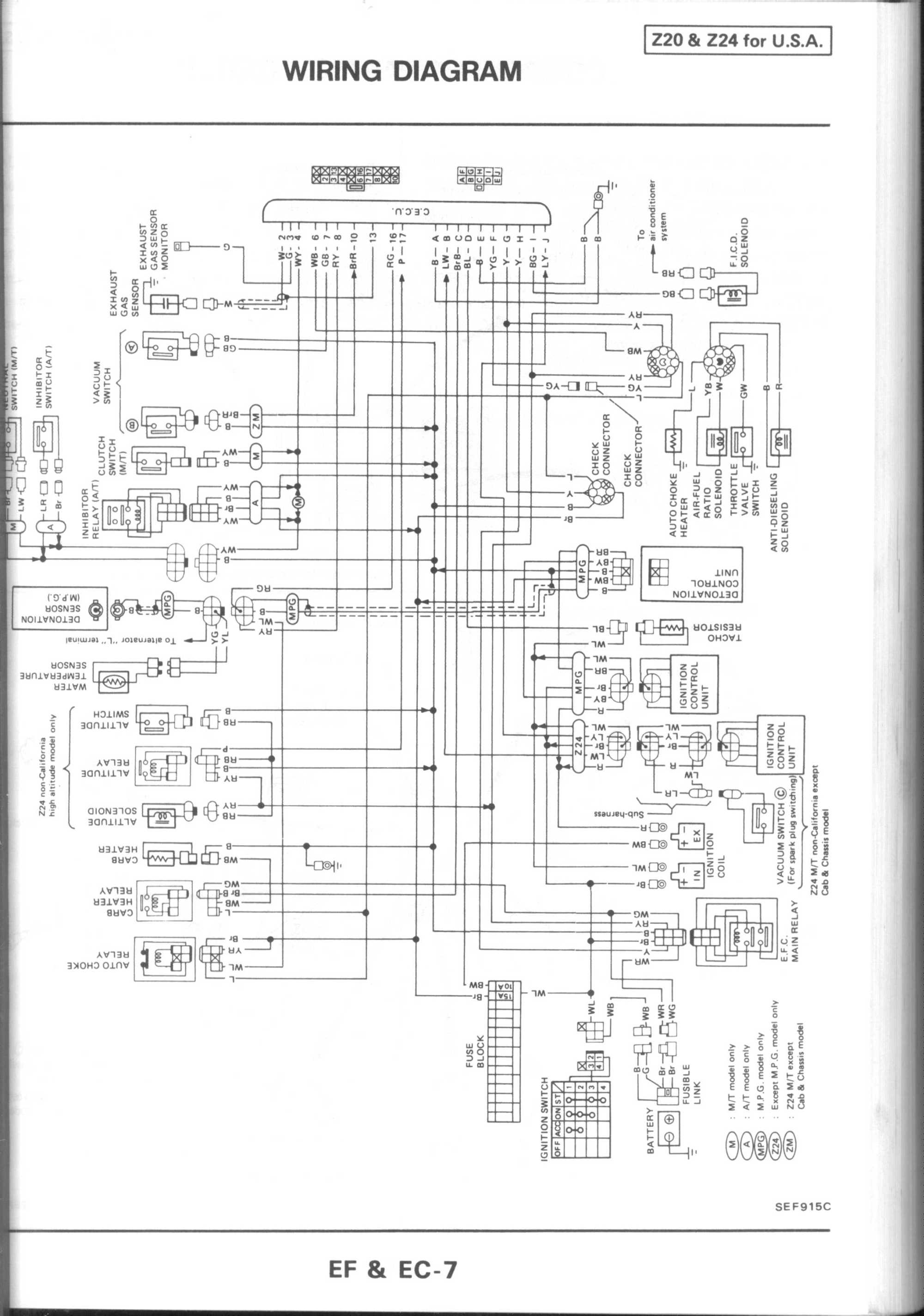 hight resolution of wiring diagram for 1990 nissan pickup wiring diagram host