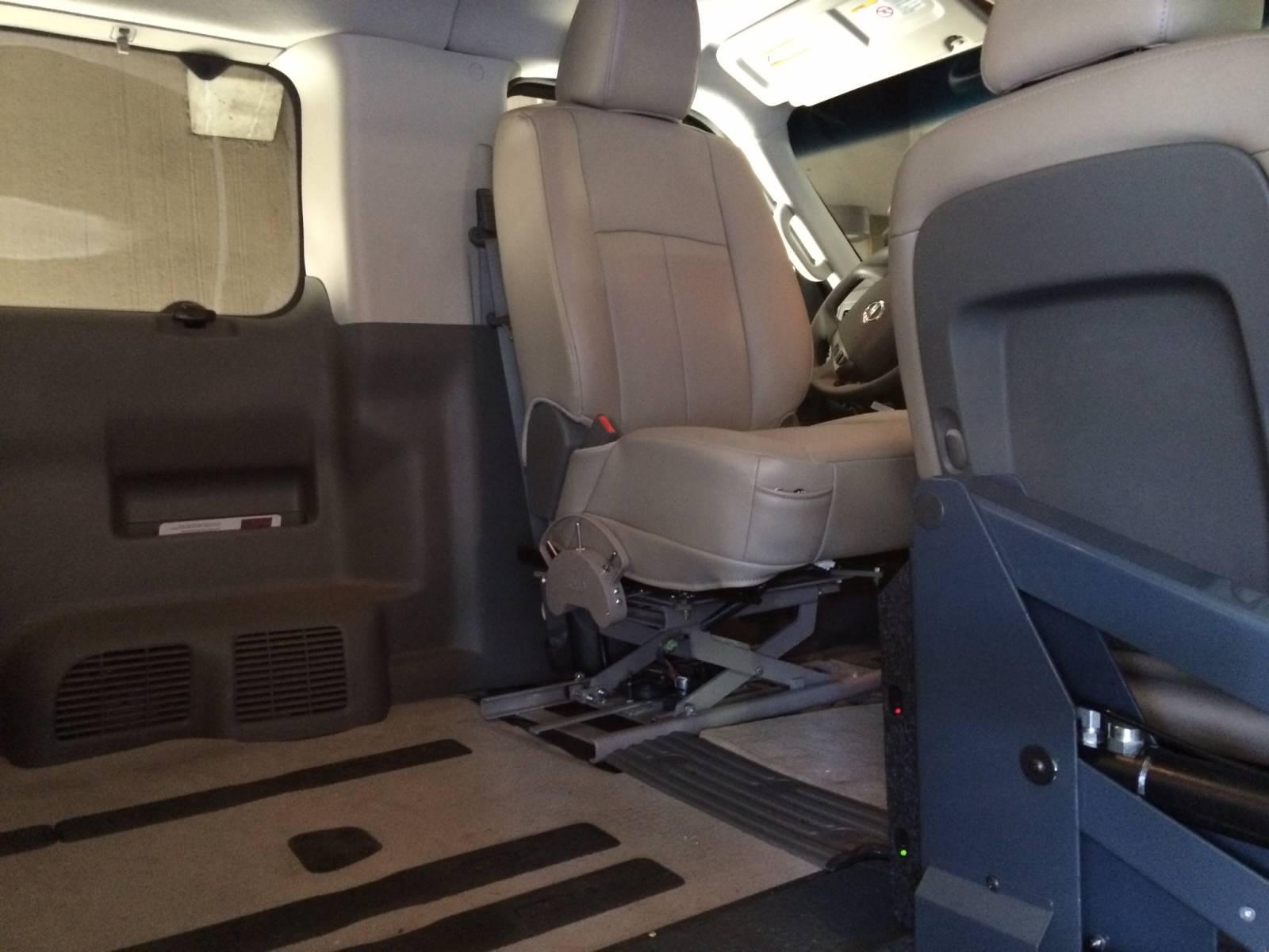 Transfer Seat Base  Wheelchair Accessible Conversion Van