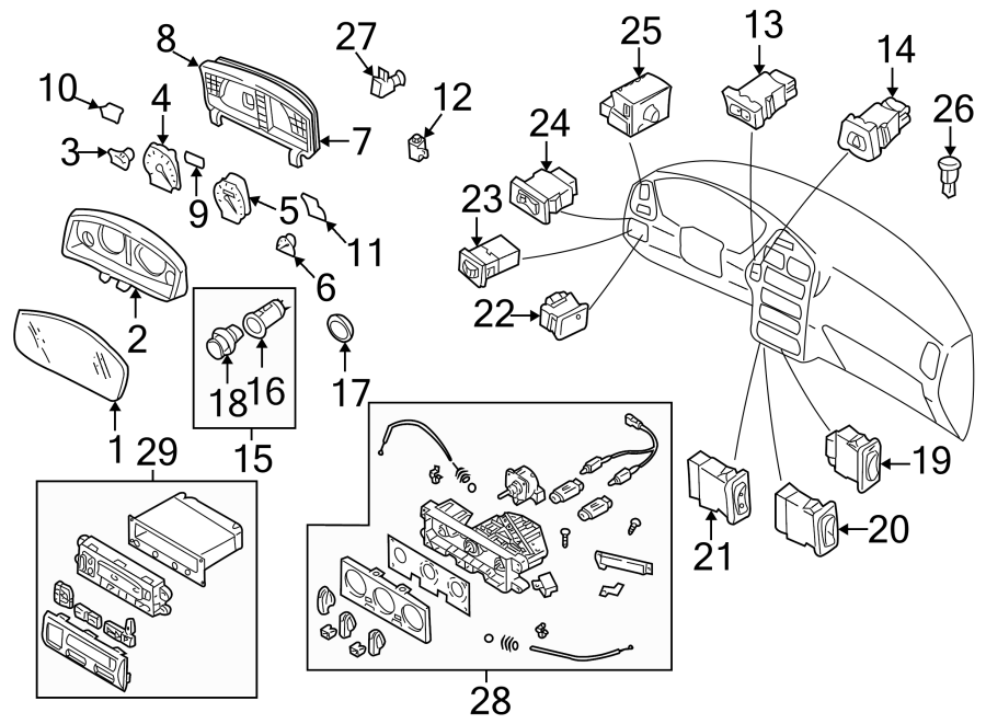 Nissan Pathfinder Speedometer Gauge. 1996-2001, to 12/98