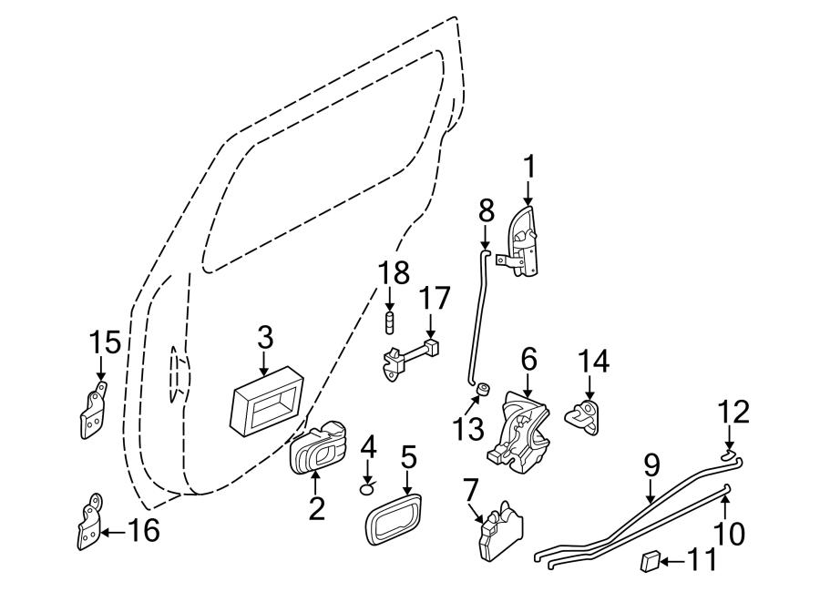 1998 Nissan Pathfinder Lock. Rod. To lock knob. Knob, l
