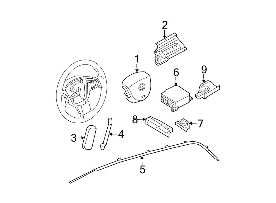 Nissan Murano Air Bag Control Module. Air Bag Control