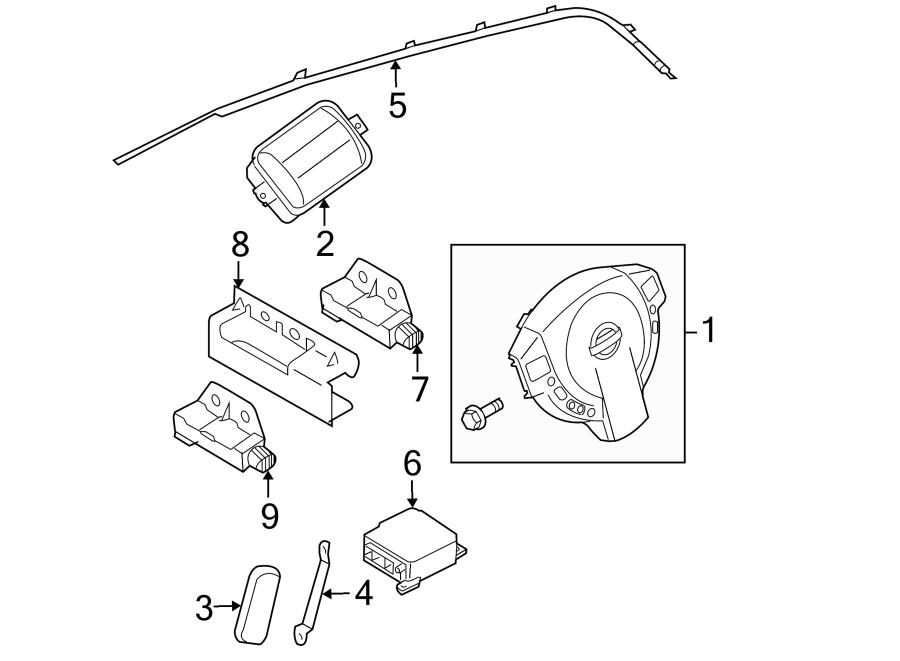 Nissan Rogue Driver inflator module. Steering wheel air