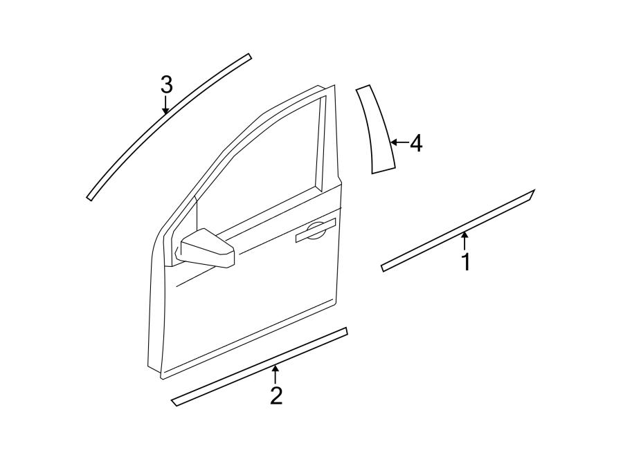 Nissan Murano Door Molding (Front, Upper, Lower). Body