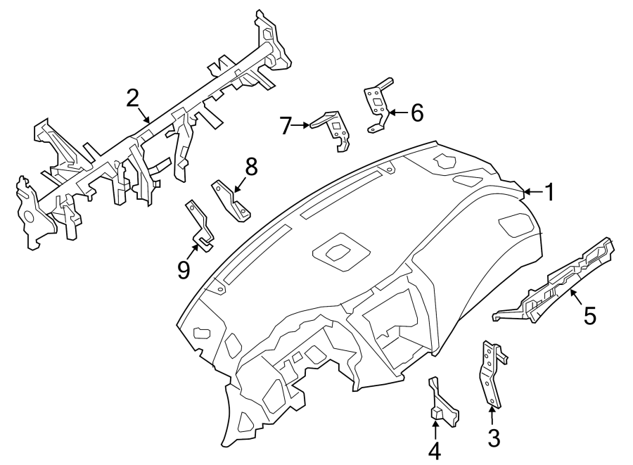 Nissan Murano Body Control Module Bracket (Right). Trl