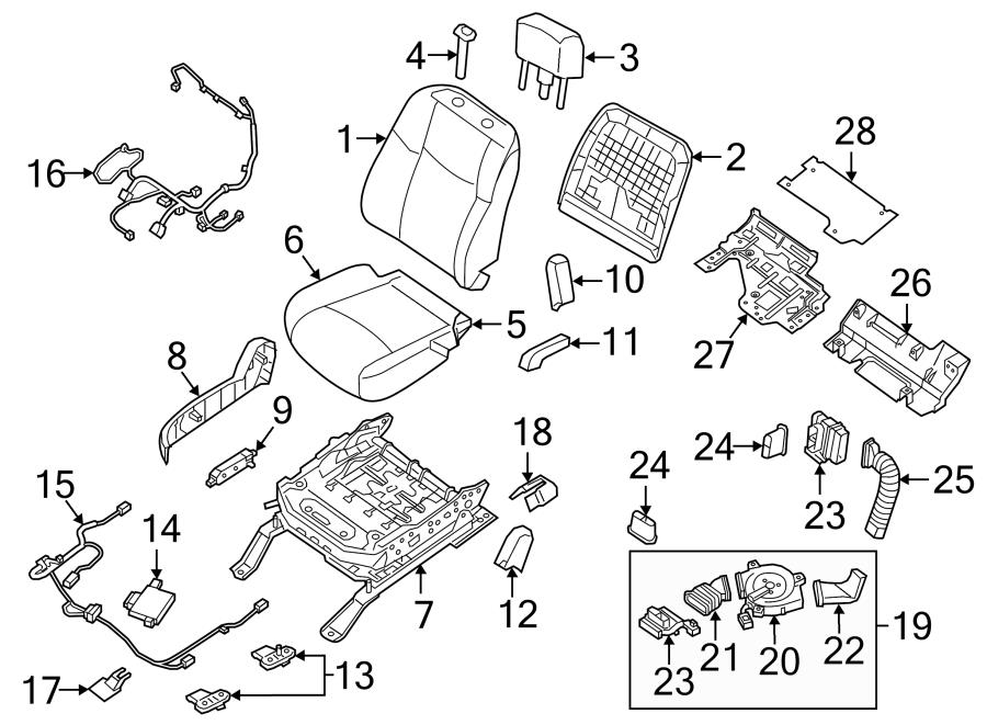 Nissan Maxima Air Bag Seat Sensor Mat. SENSOR. W/POWER