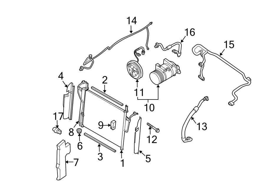 Nissan Titan A/c pipe. A/c refrigerant liquid pipe