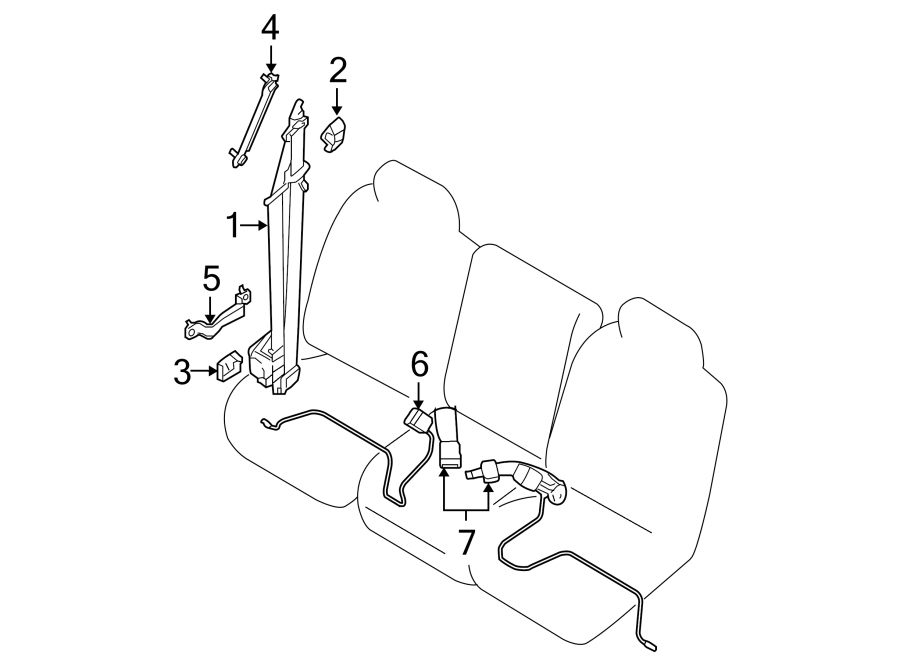 Nissan Titan Seat Belt Receptacle (Front). Cab, Gray