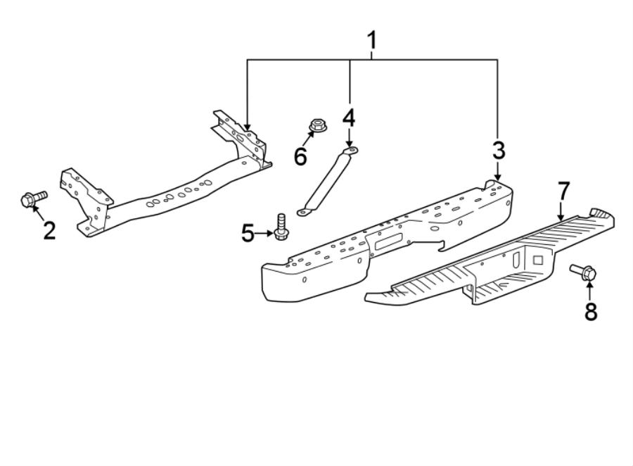 Nissan Titan Bumper Face Bar (Rear). Hitch, TRAILER, LOWER