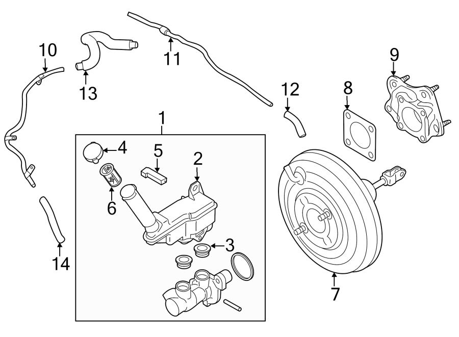 2012 Nissan Juke Cylinder. Master. Brake. Includes: master
