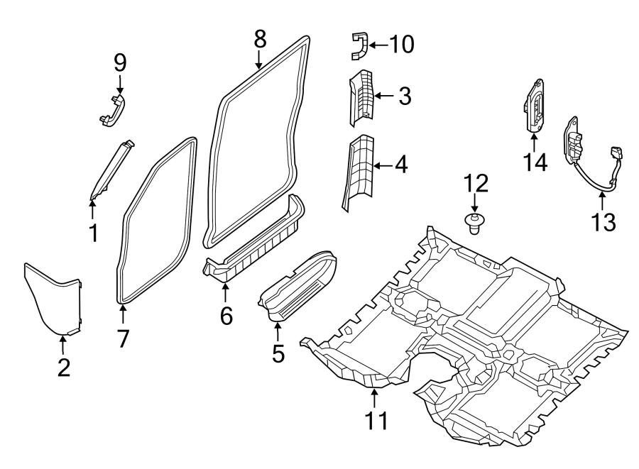 Nissan NV3500 Door Sill Plate. Rear Right; rear cargo van