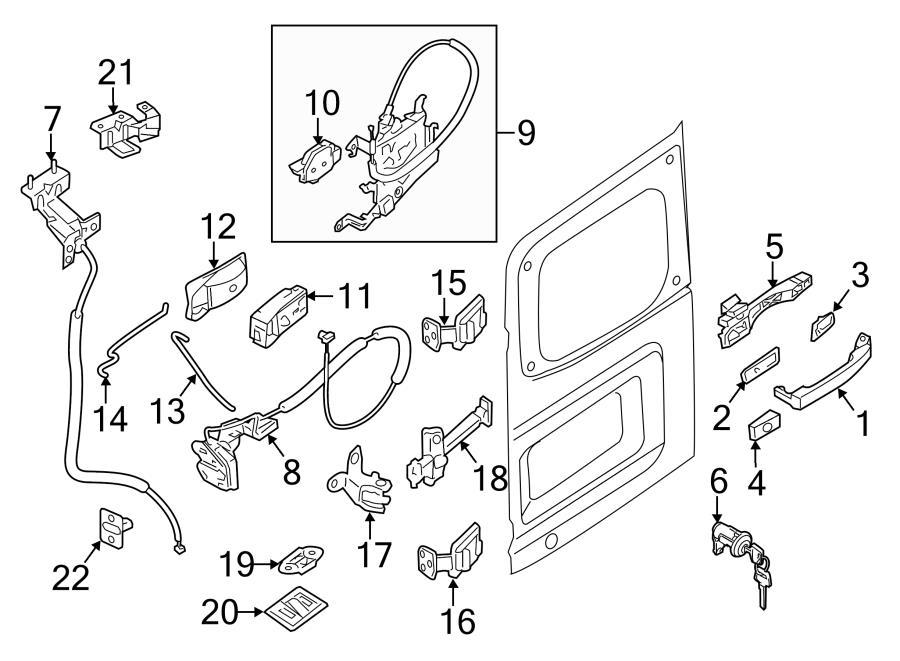 Nissan NV1500 Door Lock Actuator Motor. LOCK. Sliding Door