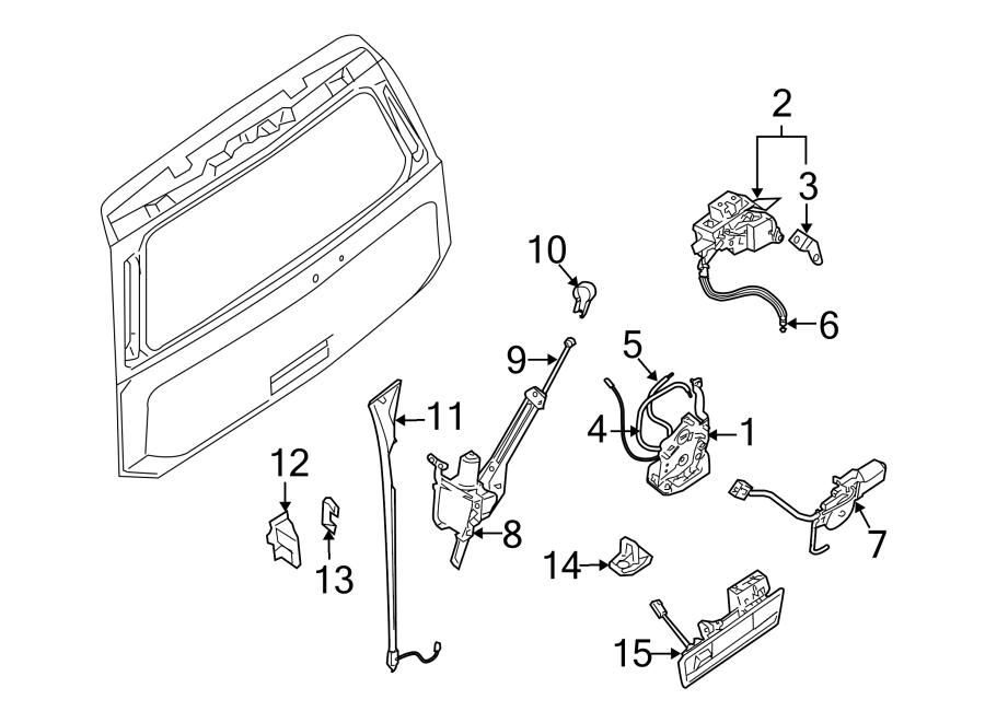 Nissan Armada Liftgate Glass Latch. Trunk Lock Actuator