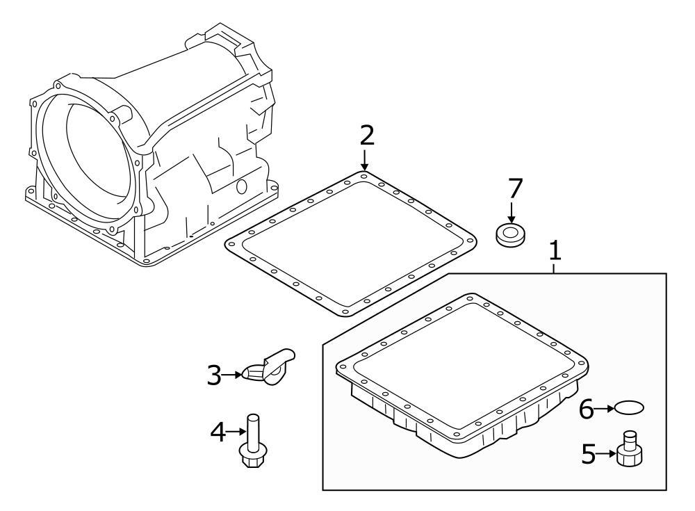 2012 Nissan 370Z Automatic Transmission Oil Pan Gasket