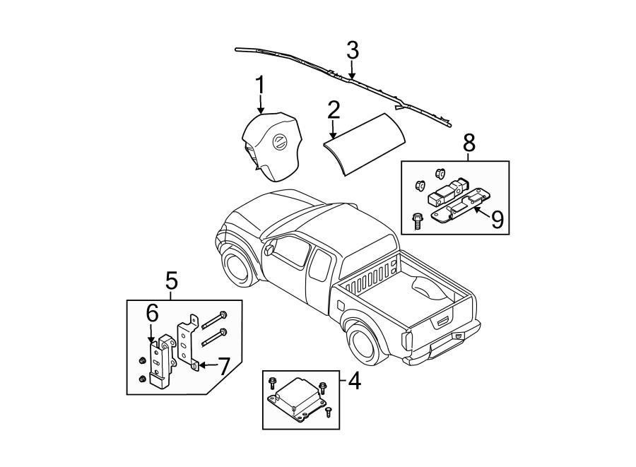 Nissan Frontier Driver inflator module. Steering wheel air