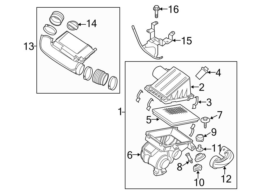 Nissan Pathfinder Engine Air Intake Hose. LITER, Duct