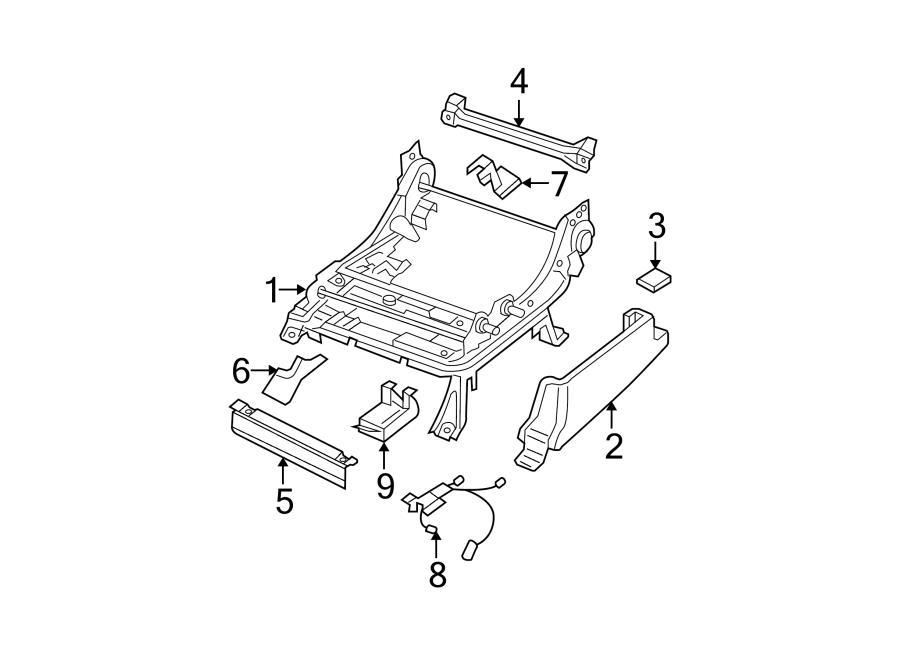 2005 Nissan Pathfinder Power Seat Wiring Harness. Left
