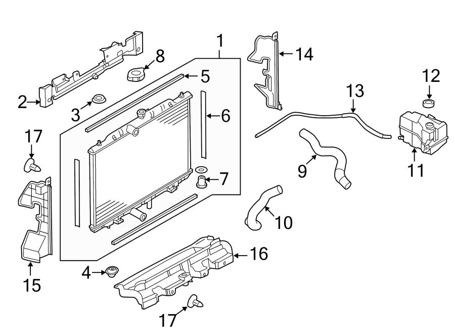 Nissan Rogue Radiator Support Air Deflector (Lower). 2.5