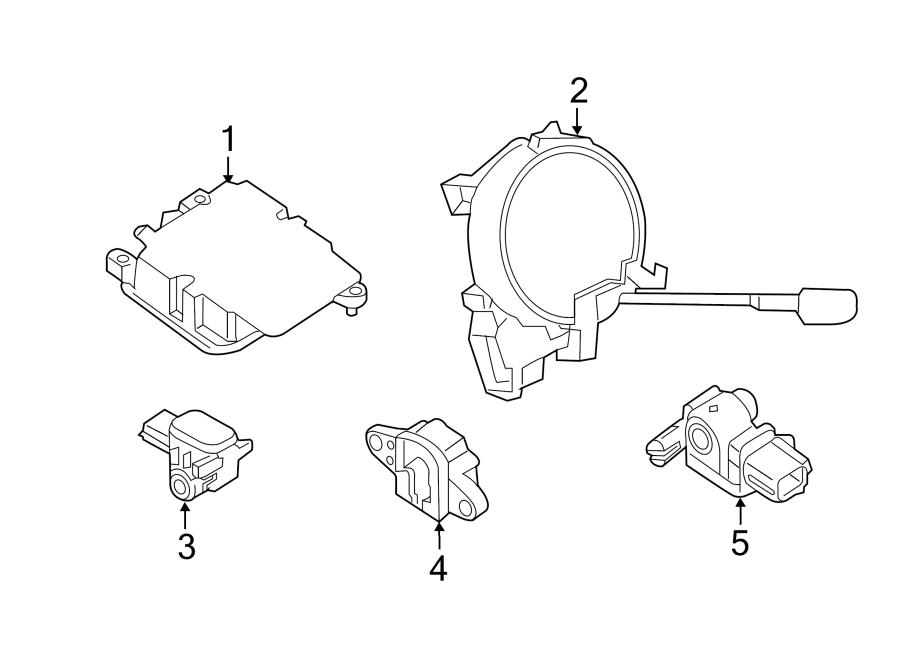 2015 Nissan Rogue Air Bag Impact Sensor (Front). SENSORS