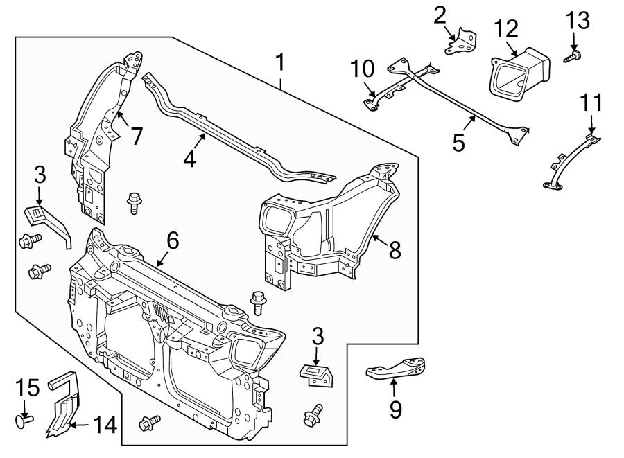 Nissan 350Z Radiator Support Bracket. Lower, Cooling
