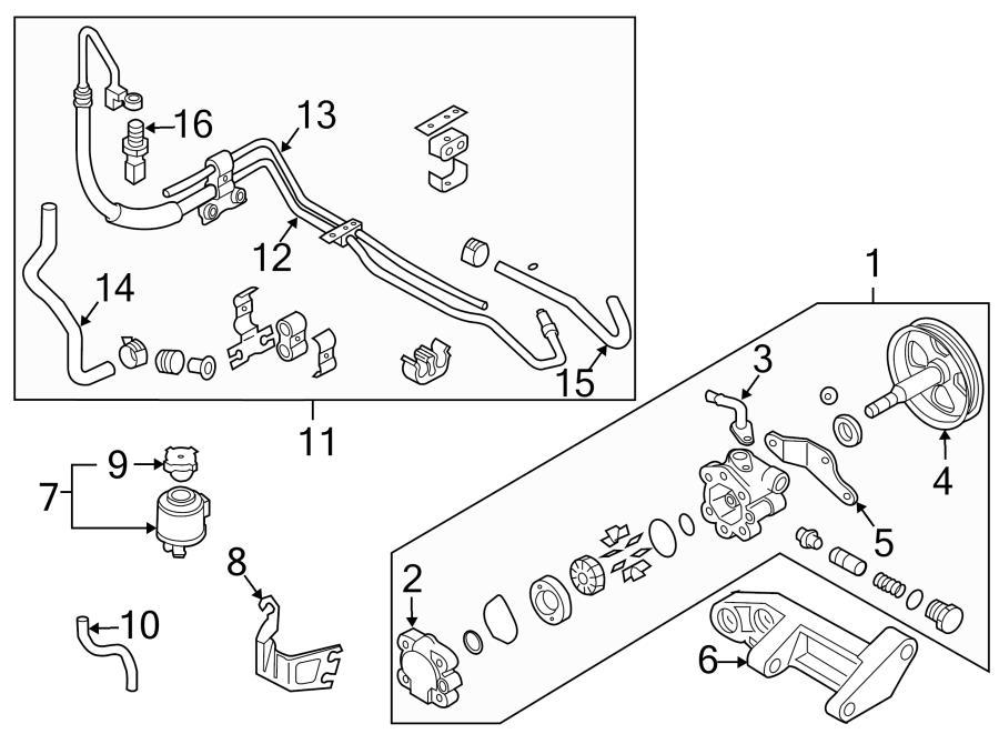 1997 Nissan Pathfinder Power Steering Reservoir Cap. PUMP