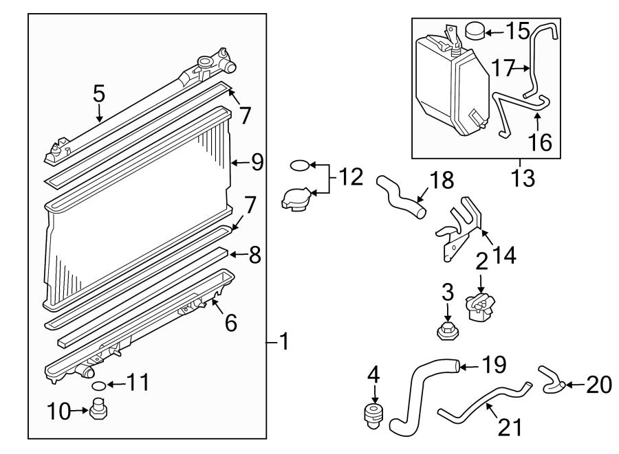 2004 Nissan 350Z Radiator Drain Plug. LITER, Trans