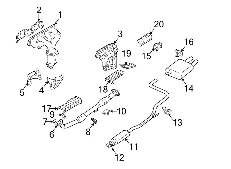 1996 nissan altima exhaust system diagram auto parts diagrams