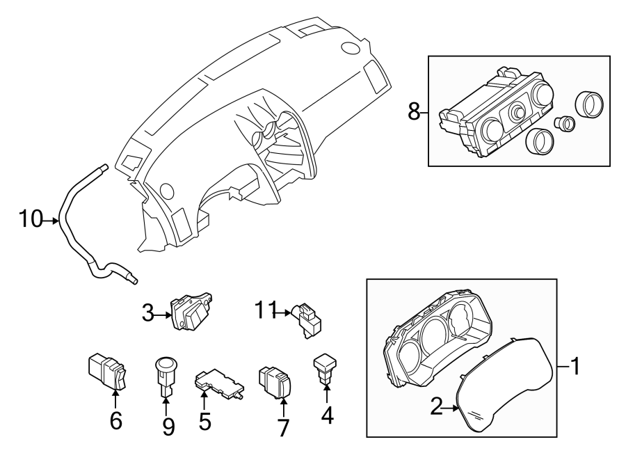 Nissan Altima Instrument Panel Lens (Front). COUPE,. SEDAN
