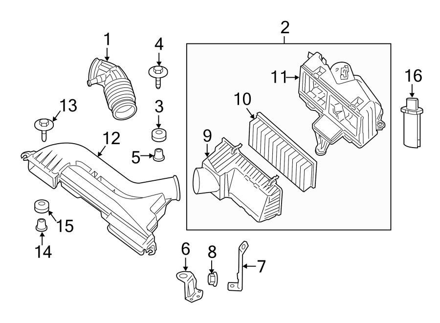 Nissan Altima SL Air Filter Housing Plug. Air Filter