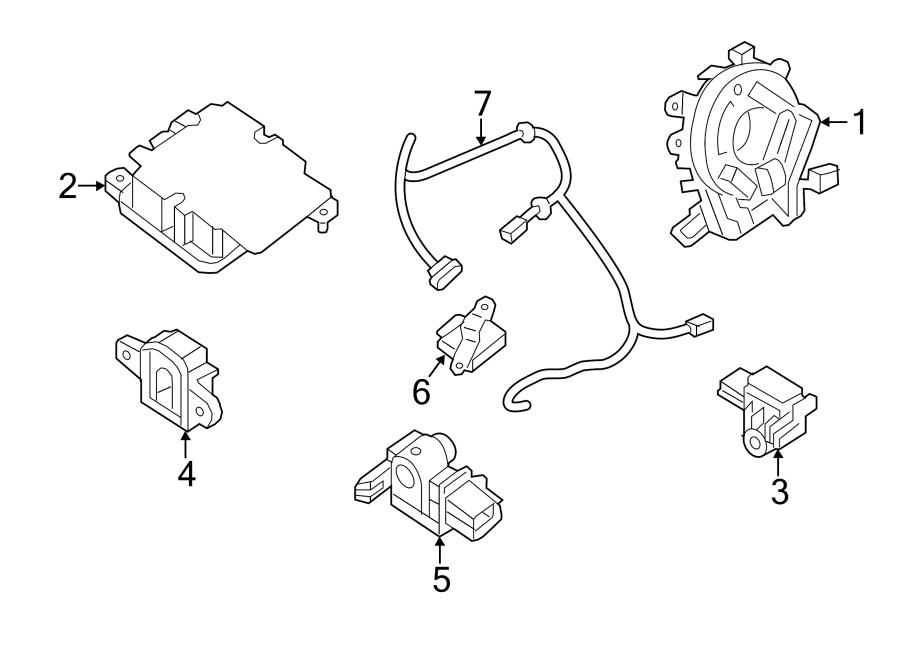 2015 Nissan Altima Air Bag Wiring Harness. SENSORS