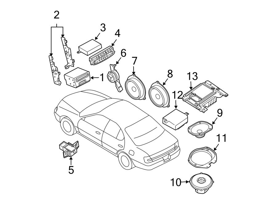 Nissan Maxima Control. Navigation. Assembly. Unit. Gps