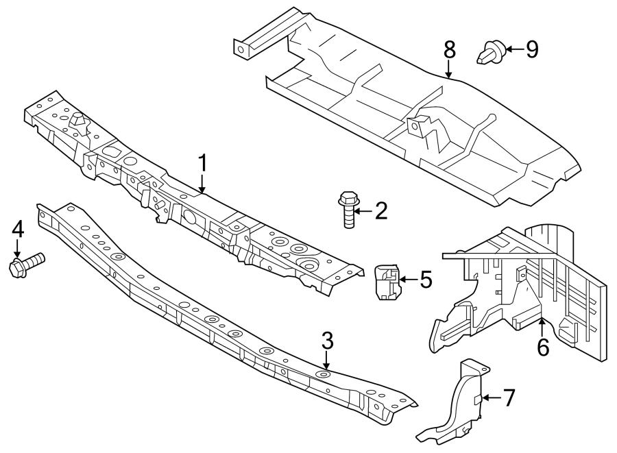 Nissan Versa Radiator Support Access Cover (Upper). Auto