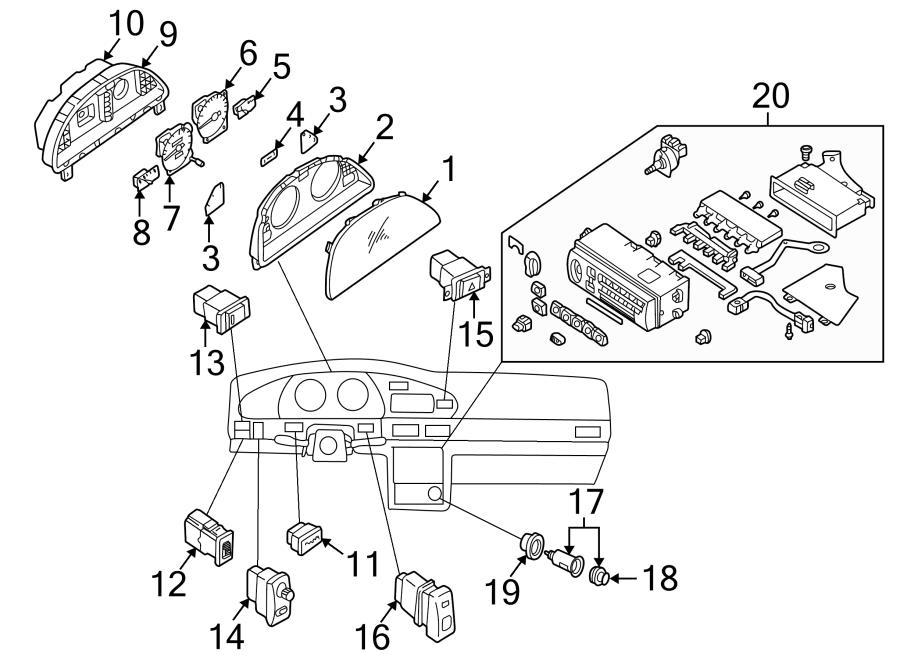 Nissan Altima Hazard switch. Hazard Warning Switch