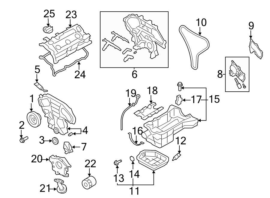 Nissan Quest Engine Timing Cover (Front). Murano; Outer
