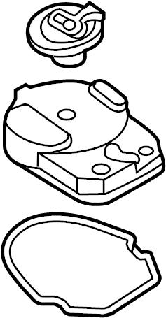 1999 Nissan Altima Distributor Rotor. 1.6 LITER. 2.4 LITER