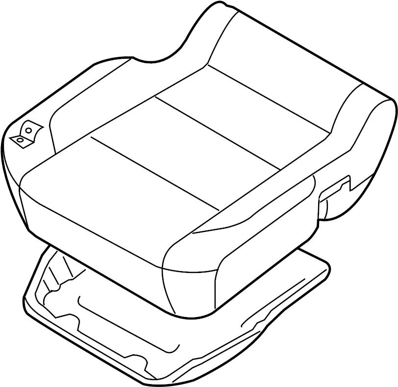 Nissan Titan Seat Cushion Foam (Front, Lower). AIR, SIDE