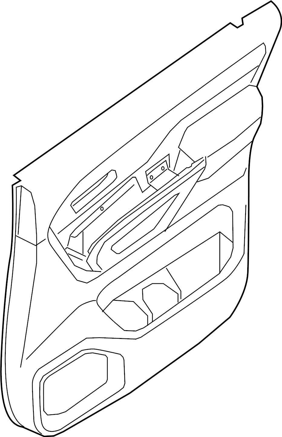 Nissan Titan Door Interior Trim Panel (Right, Rear