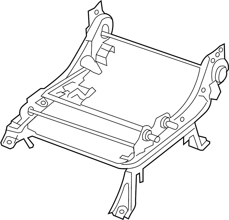 Nissan Frontier Seat Track Adjust Mechanism (Left, Front