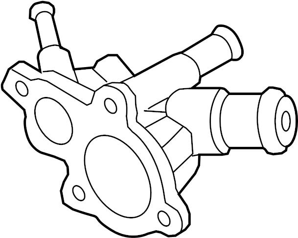 Nissan Altima Engine Coolant Outlet Flange. PUMP, WATER