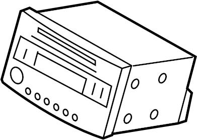 Nissan 350Z Radio Control Unit. AUDIO, VISUAL, COUPE