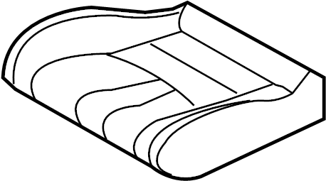 Nissan 350Z Seat Cushion Foam (Front). BAG, SIDE, AIR