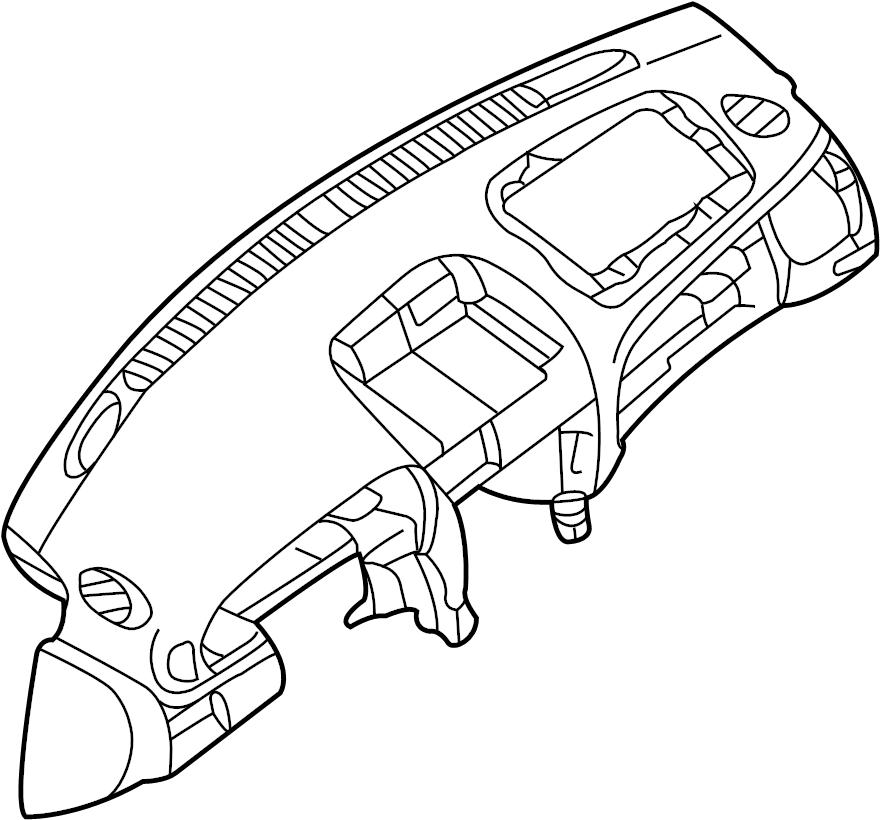 2004 Nissan Sentra Dashboard Panel. Lower, INSTRUMENT