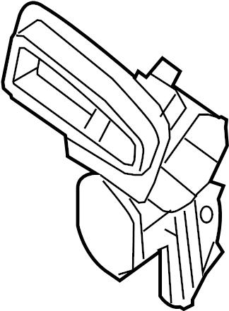 Nissan Sentra Service File Door Intake B. (Front, Lower