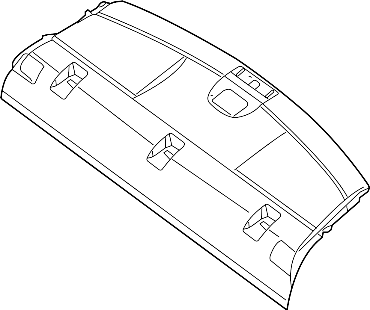 Nissan Sentra Package Tray Trim (Front, Rear, Upper
